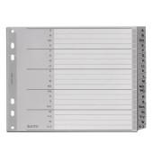 Kunststoffregister 1262-00-00 A-Z A4+ halbe Höhe 0,12mm grau Taben 20-teilig