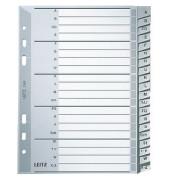 Kunststoffregister 1265-00-00 A-Z A5 0,12mm graue Taben 20-teilig