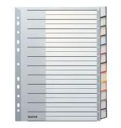 Kunststoffregister 1274-00-00 blanko A4+ 0,12mm farbige Fenstertabe zum wechseln 12-teilig