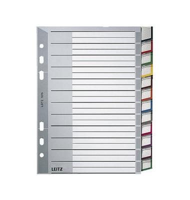 Kunststoffregister 1275-00-00 blanko A5 0,12mm farbige Fenstertabe zum wechseln 12-teilig