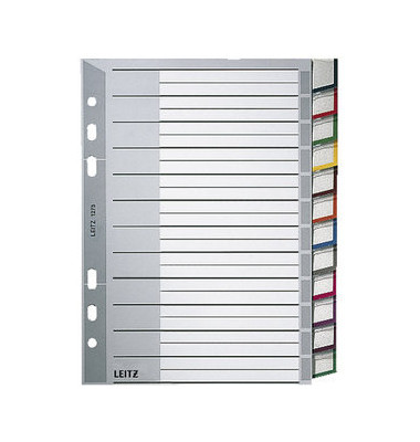 Register 1275 blanko A5 0,12mm farbige Taben 12-teilig Fenstertabe