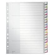 Kunststoffregister 1278-00-00 blanko A4+ 0,12mm farbige Fenstertabe zum wechseln 20-teilig