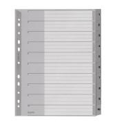 Kunststoffregister 1280-00-00 1-10 A4+ 0,12mm graue Taben 10-teilig
