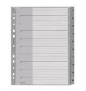 Register 1280 1-10 A4+ 0,12mm graue Taben 10-teilig