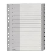 Kunststoffregister 1282-00-00 1-12 A4+ 0,12mm graue Taben 12-teilig