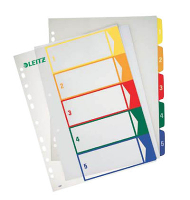 Kunststoffregister 1291-00-00 1-5 A4+ 0,3mm farbige Taben 5-teilig