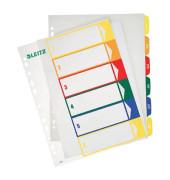 Kunststoffregister 1292-00-00 1-6 A4+ 0,3mm farbige Taben 6-teilig