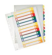 Kunststoffregister 1294-00-00 1-12 A4+ 0,3mm farbige Taben 12-teilig