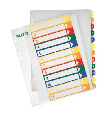 Register 1294 1-12 A4+ 0,3mm farbige Taben 12-teilig