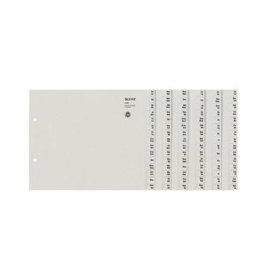 Kartonregister 1324-00-85 A-Z A4 halbe Höhe 100g graue Taben für 24 Ordner 20-teilig