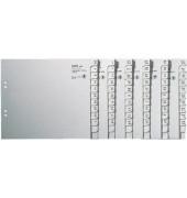 Kartonregister 1350 A-Z A4 halbe Höhe 100g graue Taben für 50 Ordner 20-teilig