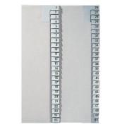 Kartonregister 1381 1-25 A4 halbe Höhe 100g graue Taben 25-teilig
