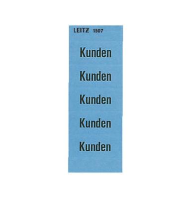 Inhaltsschilder 1507 Kunden blau 60x25,5mm selbstklebend 100 Stück