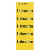 Inhaltsschilder 1508 Lieferanten gelb 60x25,5mm selbstklebend 100 Stück