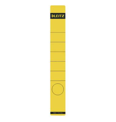 Rückenschilder 1648-00-15 39 x 285 mm gelb zum aufkleben 10 Stück