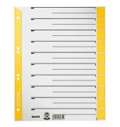 Trennblätter 1652 A4 grau/gelb farbige Taben 230g 100 Blatt Recycling