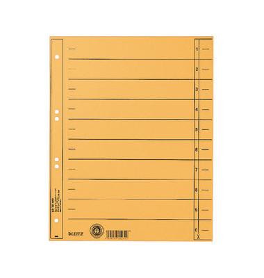 Trennblätter 1658 A4 gelb 230g Karton 100 Blatt Recycling