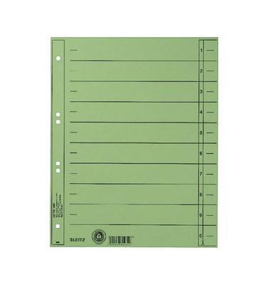 Trennblätter 1658 A4 grün 230g Karton 100 Blatt Recycling