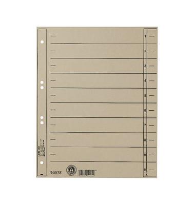 Trennblätter 1658 A4 grau 230g Karton 100 Blatt Recycling