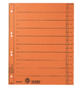 Trennblätter 1658 A4 orange 230g Karton 100 Blatt Recycling