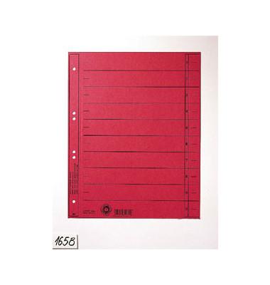 Trennblätter 1658 A4 rot 230g Karton 100 Blatt Recycling