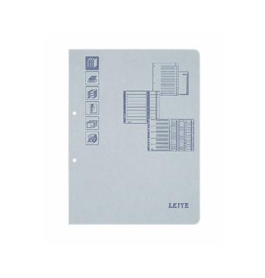 Deckblätter für Ordner 1660-00-85 A4 Karton 160 g/m² grau matt 100 Stück