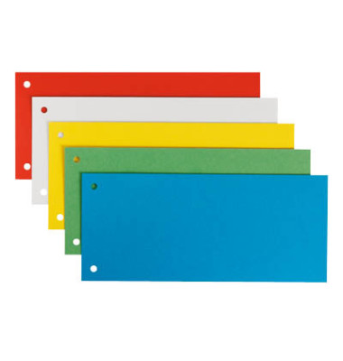 Trennstreifen 1679 farbig sortiert 180g gelocht 240x105mm 5x 5 Blatt