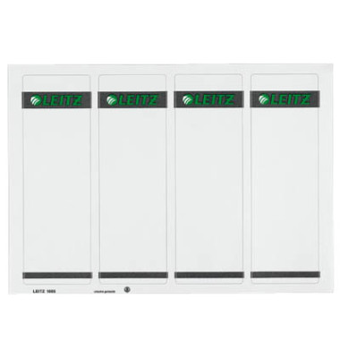 PC Rückenschilder 1685-20-85 61 x 192 mm weiß 100 Stück zum aufkleben