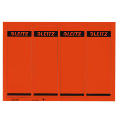 Rückenschilder 1685-20-25 61 x 192 mm rot 100 Stück zum aufkleben