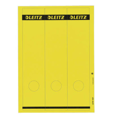 Rückenschilder 1687-00-15 61 x 285 mm gelb 75 Stück zum aufkleben