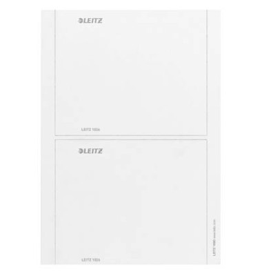 Rückenschilder 1690 176 x 146 mm weiß zum einstecken 10 Stück für Leitz Prestige, Active und Solid