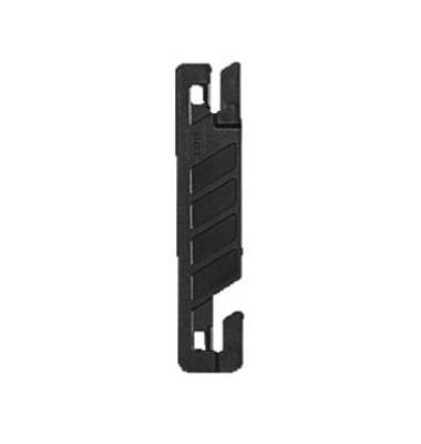 Deckleiste Flexofil 1720-00-95, 22x102mm, Kunststoff, schwarz, 50 Stück
