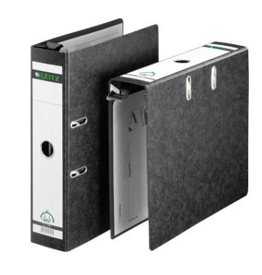 Hängeordner A4 schwarz 80mm mit Griffloch 18210000 Recycling
