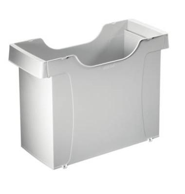 Hängemappenbox Uni-Box Plus 1908 grau bis 20 Mappen leer stapelbar