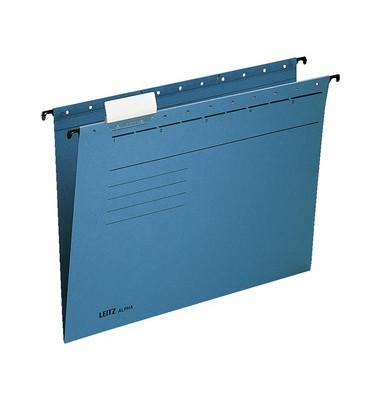 Hängemappe A4 ALPHA blau 250g Karton 19850035