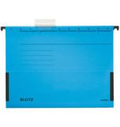 Hängetasche A4 ALPHA blau mit Sichtreiter 250g Recyclingkarton 19860035