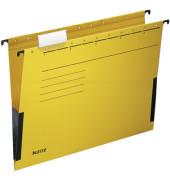 Hängetasche A4 ALPHA gelb 250g Recyclingkarton mit Sichtreiter 19860015