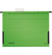 Hängetasche A4 ALPHA grün 250g Recyclingkarton mit Sichtreiter 19860055