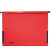Hängetasche A4 ALPHA rot 250g Recyclingkarton mit Sichtreiter 19860025