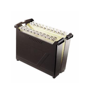 Hängemappenbox Termin-Set 1995 schwarz bis 53 Mappen befüllt mit 53 Mappen