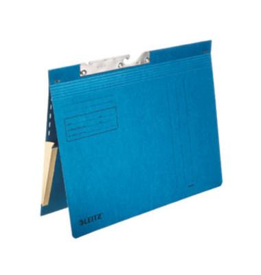 Pendelhefter 2011 A4 320g Karton blau kaufmännische Heftung mit Tasche