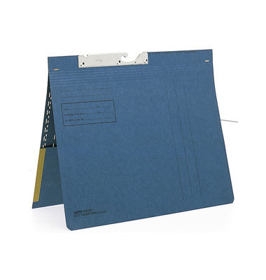 Pendelhefter A4 250g Manilakarton blau mit Tasche kaufmännische Heftung