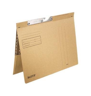 Pendelhefter A4 250g Manilakarton grau mit Tasche kaufmännische Heftung