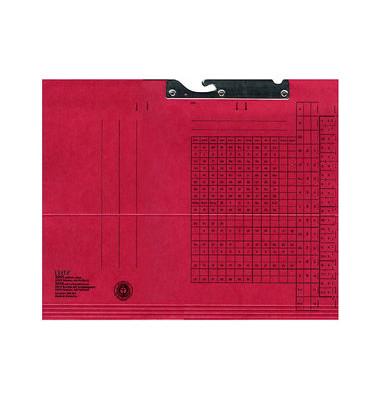 Pendelmappe 2015 A4 320g Karton rot für lose Blätter