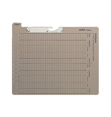 Pendel-Fehlkarten ohne Tasche grau