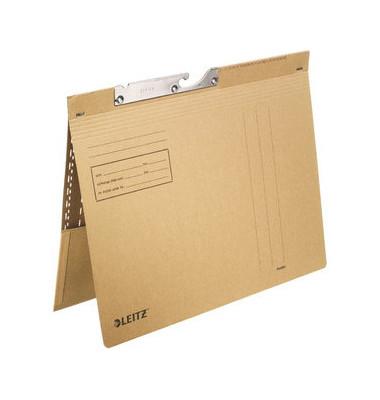 Pendelhefter 2112 A4 250g Karton natronbraun kaufmännische Heftung mit Tasche
