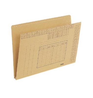 Einstellmappe A4 für Vollsichtreiter 250g Natronkarton braun