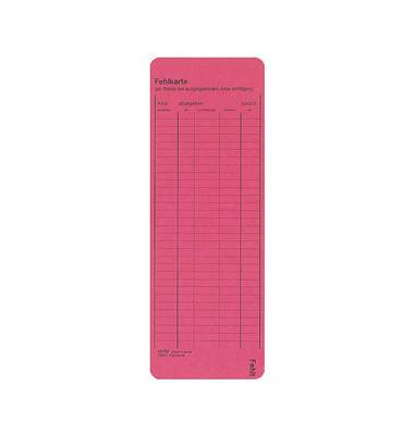 Fehlkarte und Leitkarte RC-Karton rot 338x120mm 450g