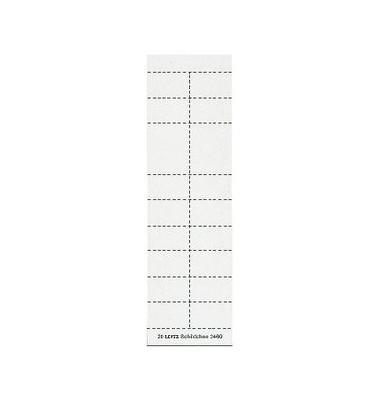 Beschriftungsschilder f. 2454/2444 weiß 200 Stück