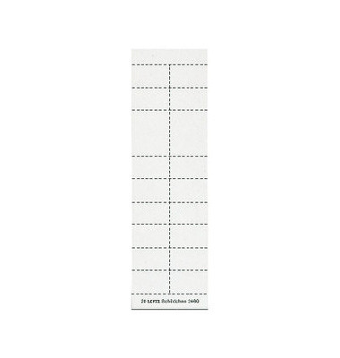 Schildchen f. 2454/2444 weiß 200 St